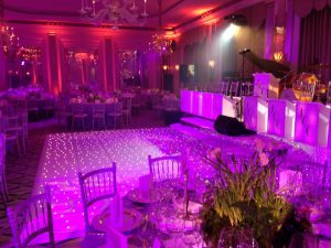complete event equipment hire dancefloors stages light up letters