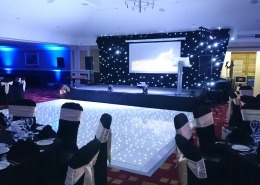 hilton avisford park av dancefloor stage and backdrop hire