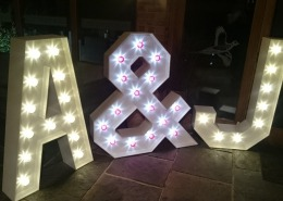 Gates Street Barn Bramley Individual Light Up Letter Hire 1