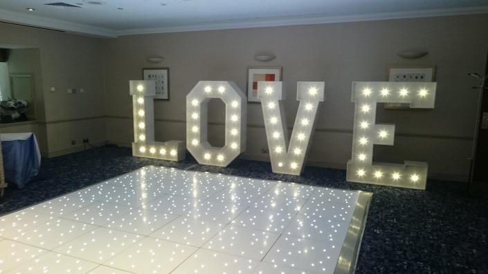 LOVE and 12ft Dancefloor at Solent Spa Hotel