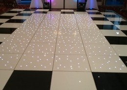 Marriott Portsmouth Black White with LED Feature Dancefloor