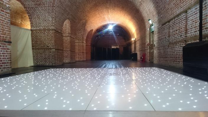 led dancefloor hire at explosion museum gosport hampshire