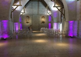 Tithe Barn Petersfield Uplighting uplight hire
