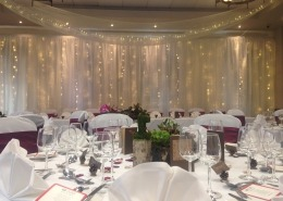 devere new place arden suite ceiling drapes swags backdrop 1