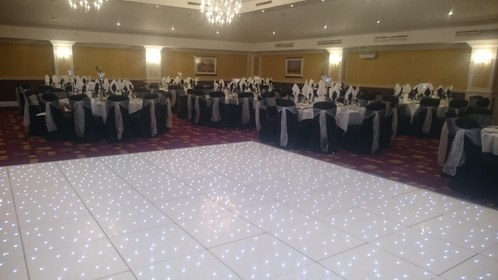 LED Dancefloor at Hilton Avisford Park Arundel