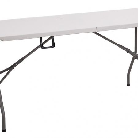 folding 6ft trestle table white