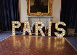 individual light up letters paris at royal marines