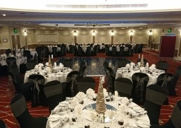 portsmouth marriott hotel black led dancefloor chaircovers grey sash