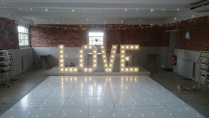 sopley mill dancefloor white led 4ft love