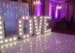 white led dancefloor and 5ft love at queens hotel southsea portsmouth