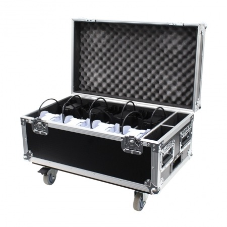 Battery Uplighter QB1 RGBW White Housing Flightcase