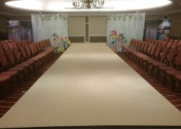 White Catwalk Runway at Marriott Hotel Portsmouth