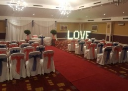 avisford park hilton 4ft love ceremony red carpet