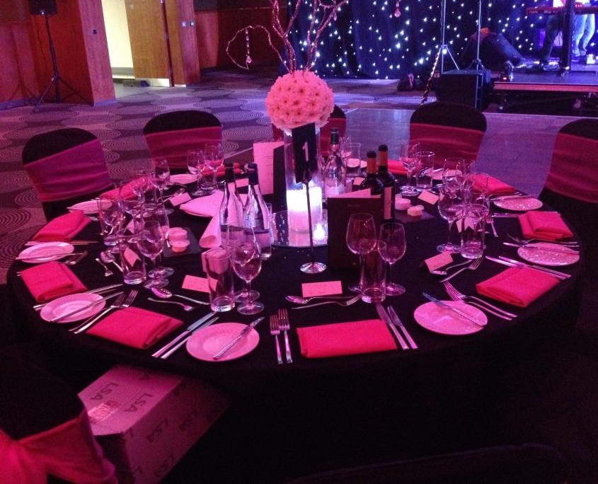black pink chair covers heathrow