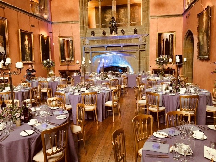 cowdray house cheltenham chair hire andtable with uplighters