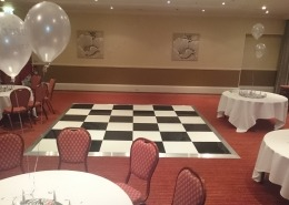 black and white dancefloor at heritage suite marriott hotel portsmouth