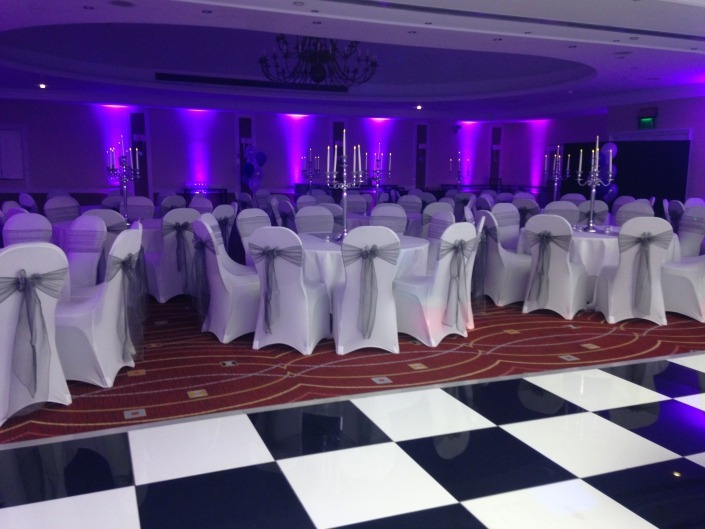 marriott portsmouth chair covers black and white dancefloor and uplighters 2