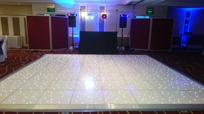 marriott portsmouth white led dancefloor ipod system 2 setup speaker lights