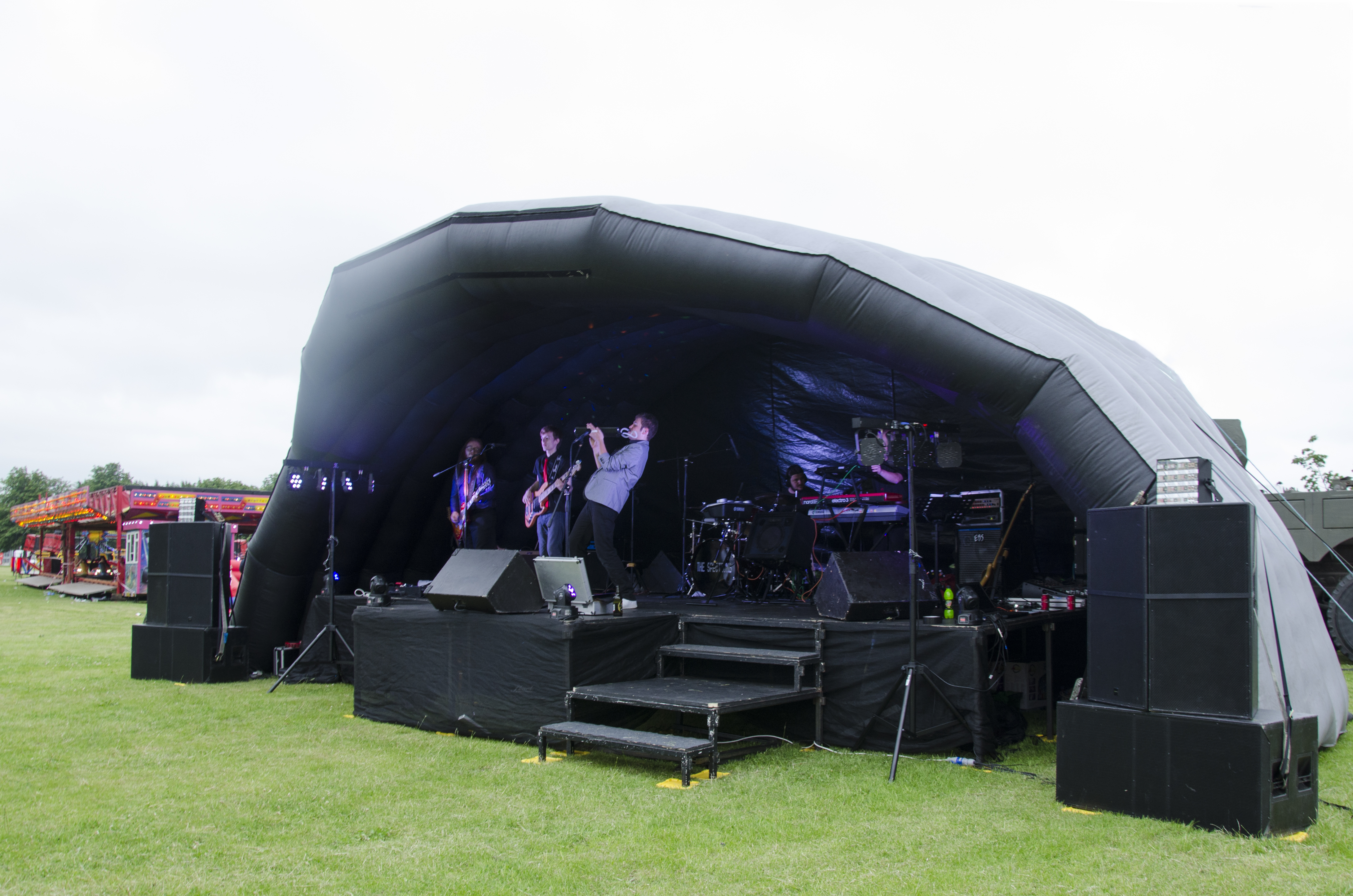 10m outdoorinflatable stage with sound