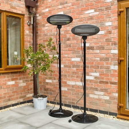 2kw freestanding electric patio heater