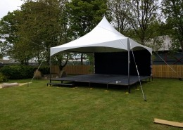 6m pagoda stage with black starcloth
