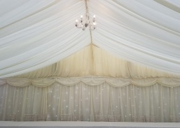 9m marquee backdrop twinkle behind linings