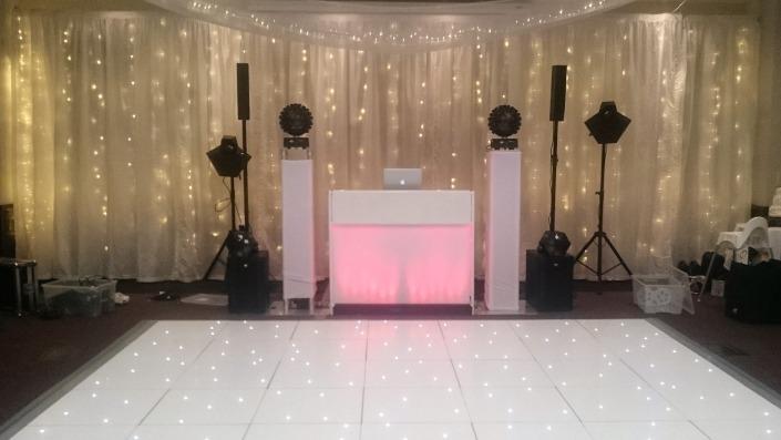 new place led dancefloor backdrop