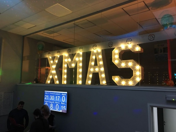 xmas light up letters christmas staff party