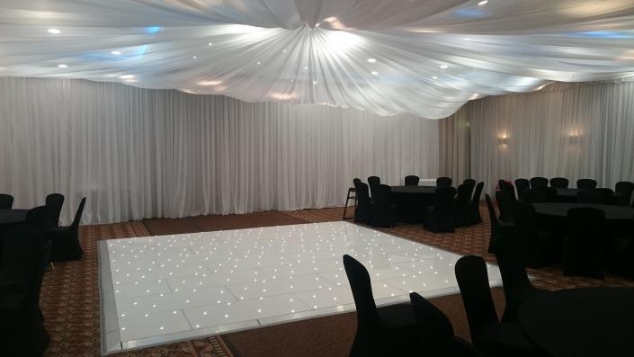 16ft White LED Dancefloor Norton Park Winchester