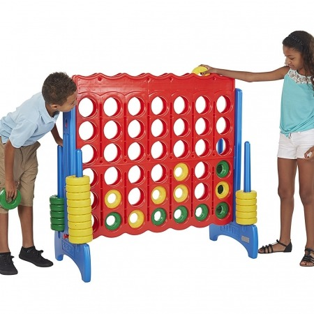 Giant Connect 4 Primary kids playing