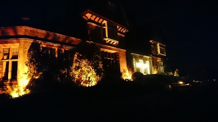 cowdray house floodlit floodlight in amber 1