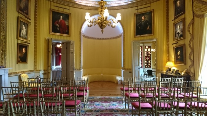 goodwood house uplighter hire in arch for ceremony