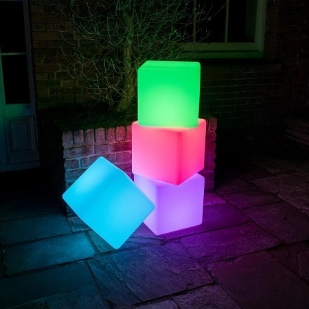 40cm Colour Changing LED Cube Stool 6